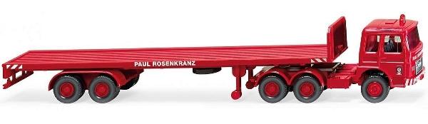 CAMION MAN F7 6x4 DE PLATAFORMA PAUL ROSENKRANZ - RED